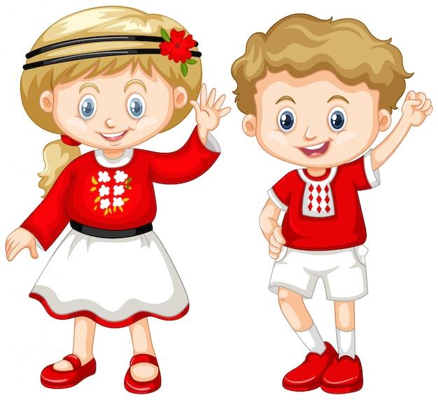 Мальчик и девочка из украины