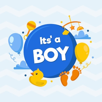 Boy baby shower background