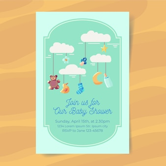 Boy baby shower invito