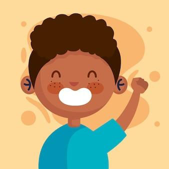 Boy cartoon design, kid childhood little and people theme  illustration