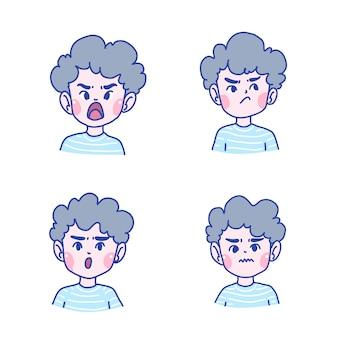 少年キャラクター漫画イラスト。