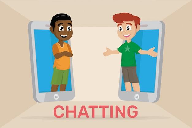 Boy in chatting
