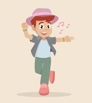 Boy dancing.