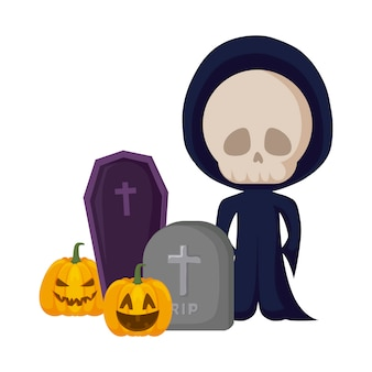 Boy disguised as a skull dead in halloween