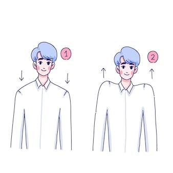 Дизайн иллюстрации упражнения мальчика