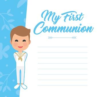 Tema prima comunione del ragazzo