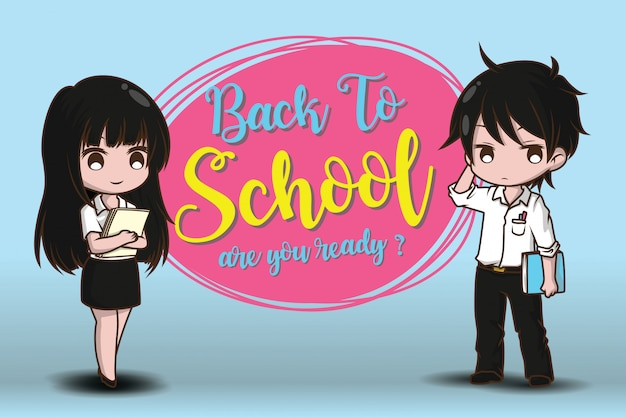 Boy and girl on back to school. are you ready?