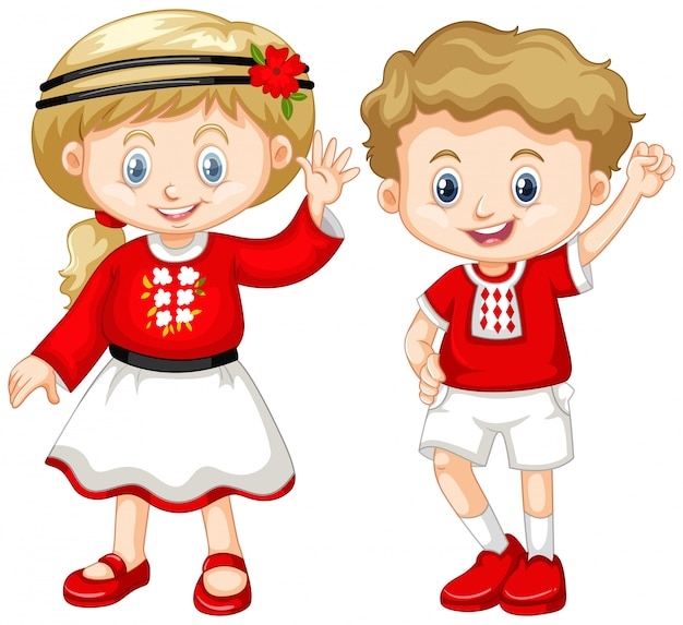 Boy and girl from ukraine