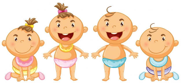 Boy and girl toddlers