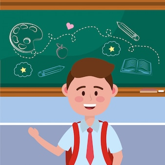 Boy kid of school
