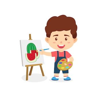 男の子の子供の絵