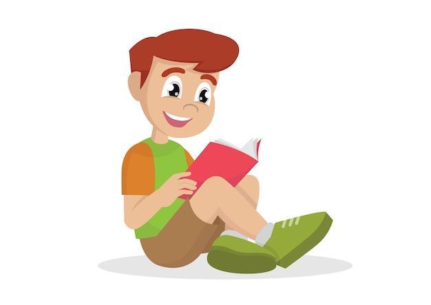少年読書。