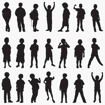 Boy silhouettes