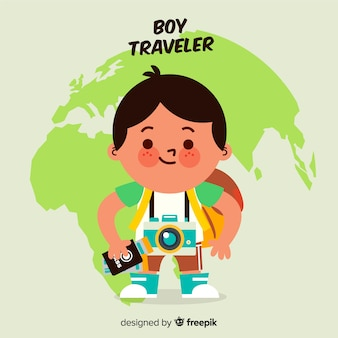 Boy traveler