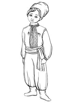Boy in ukrainian costume