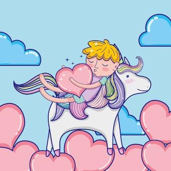 Boy and unicorn