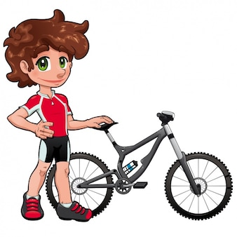 Boy with a bike design