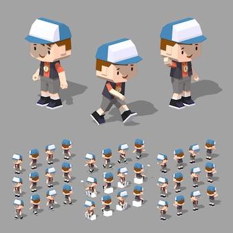 Boy with cap.