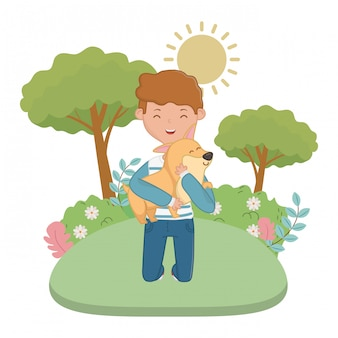 Мальчик с собакой мультфильма