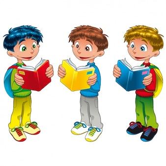Boys studying design