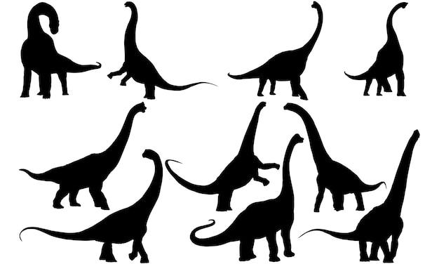 ブラキオサウルス恐竜シルエット