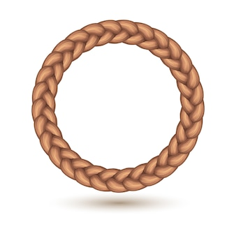 Braid border in circle shape