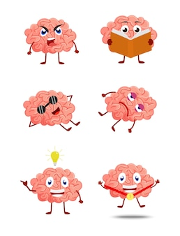 Brain cartoon illustration