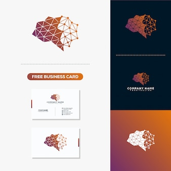 Brain connection business card