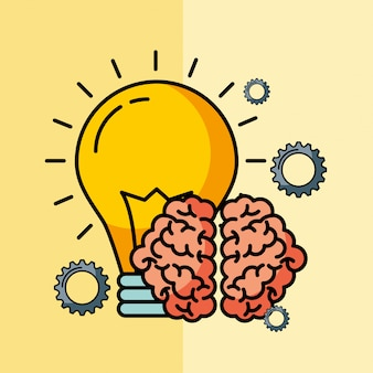 Brain creative idea bulb innovation