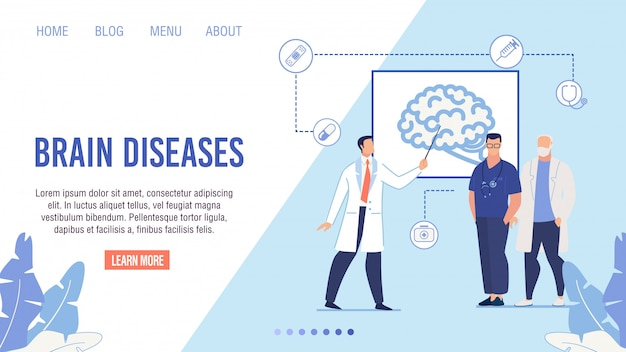 Brain disease risks dangers medical landing page