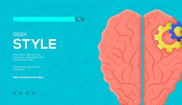 뇌, 괴짜 스타일 웹 템플릿.