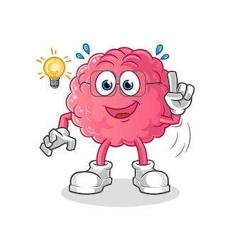 Мозг получил идею персонажа, изолированного на белом