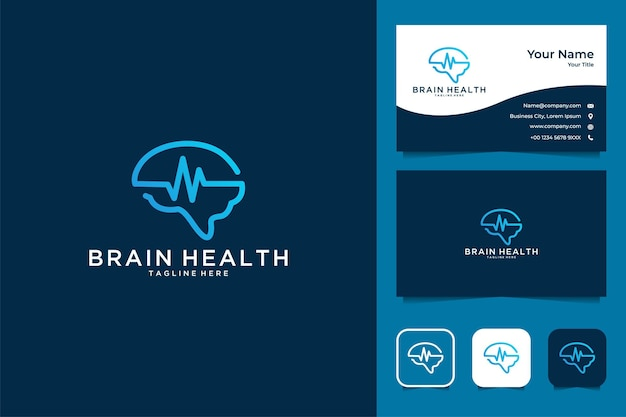 Brain health logo design and business card