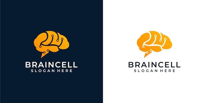 Illustrazione del logo del cervello
