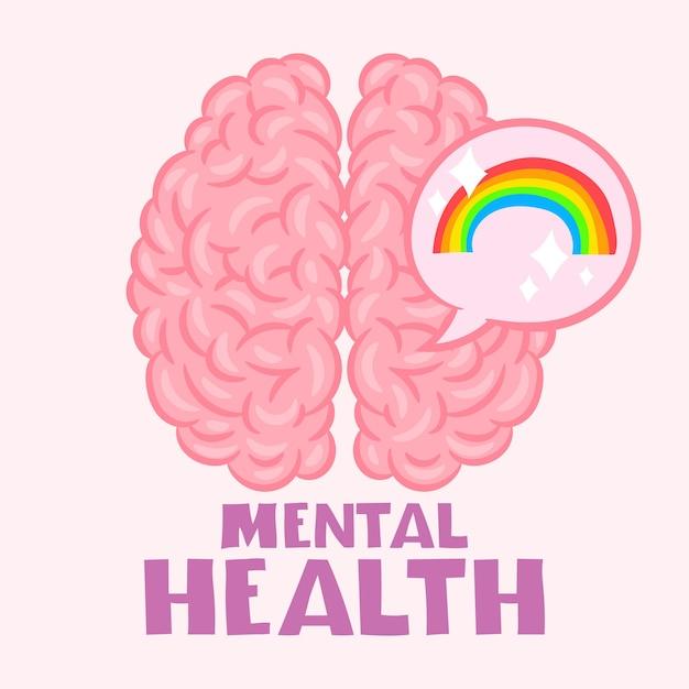 Brain mental health concept
