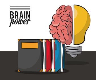 Brain power and books