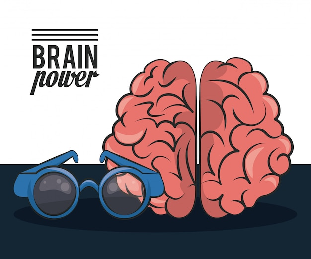 Brain power and glasses card