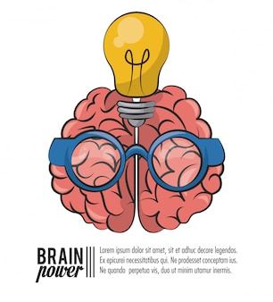 Brain power template poster with information