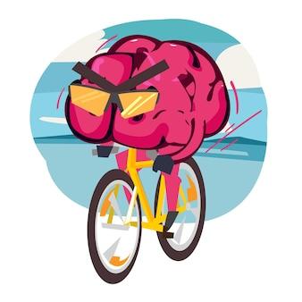 뇌를 타고 자전거 뇌 훈련 벡터