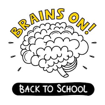 Brains on! back to school illustration