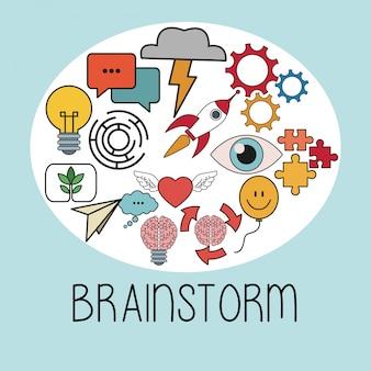 Brainstorm thinking idea strategy