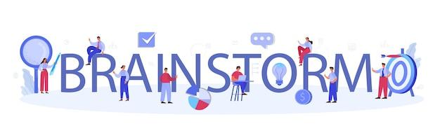 Brainstorm typographic header illustration