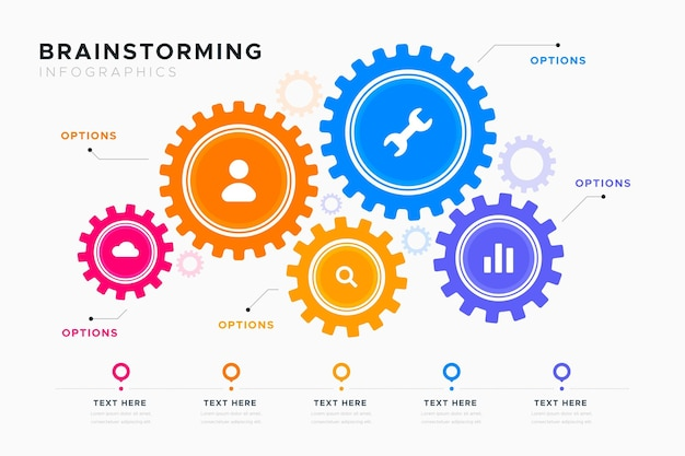 Brainstorming infographics template