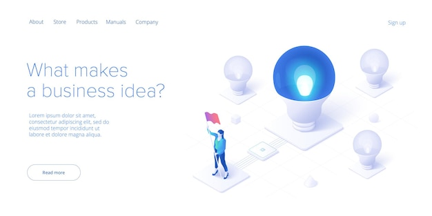 Brainstorming session concept in isometric