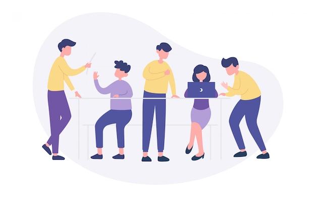Brainstorming teamwork illustration