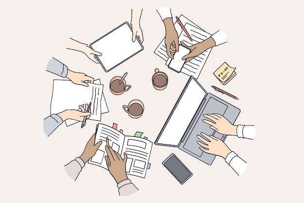브레인 스토밍 팀워크 기술 개념