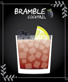 Bramble cocktail illustration