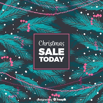 Branches christmas sale background