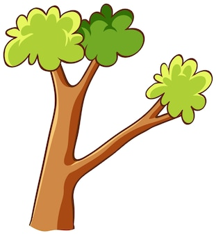 Branches of tree in cartoon style