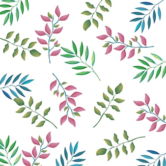 가지와 잎 장식 패턴